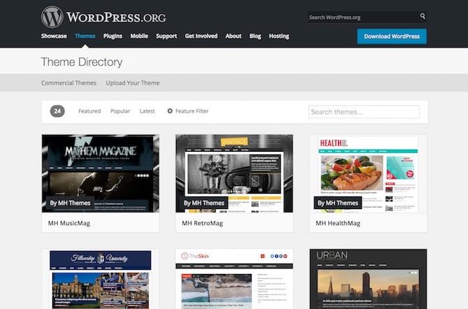 WordPress Themes Directory