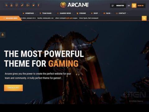 Arcane WordPress Theme