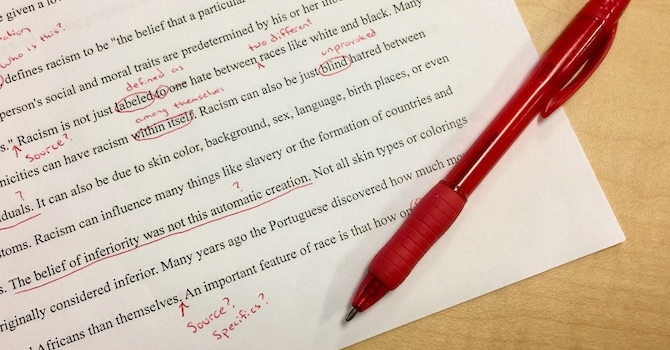 Text correction - Online proofreading