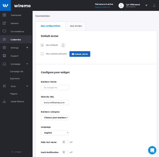 Wiremo Customization Widget Content