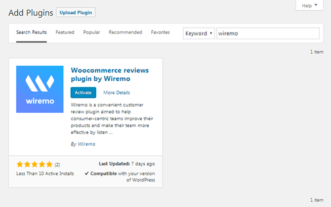 Wiremo WordPress Plugin