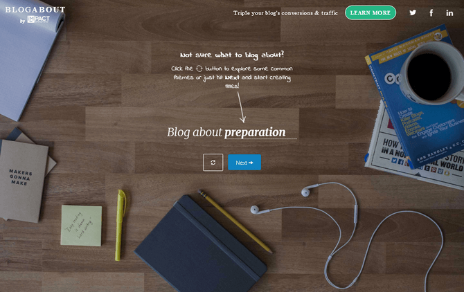 Blogabout by Impact Blog Title Generator