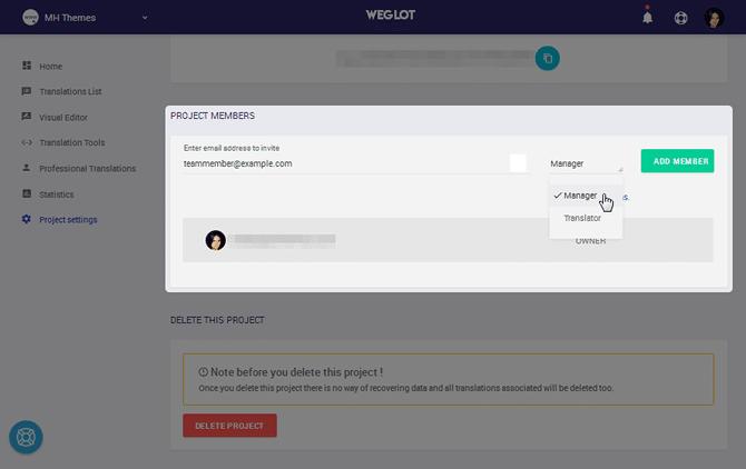 Weglot Add Team Member
