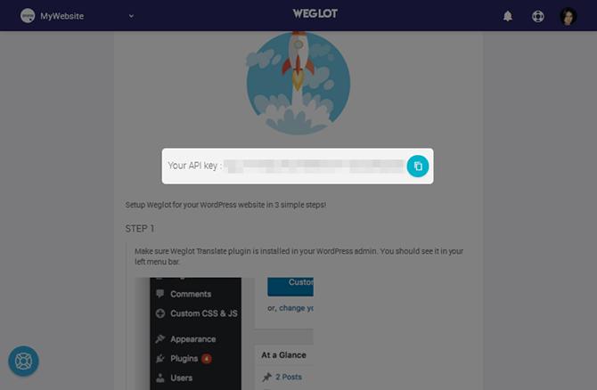 Weglot Copy API Key