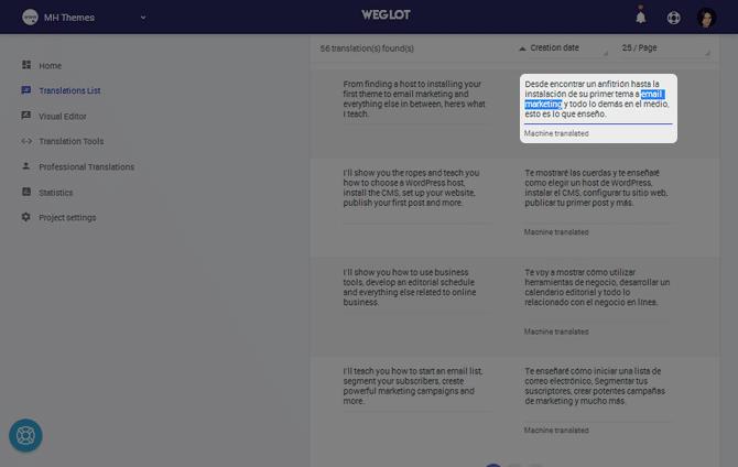 Weglot Edit Translation