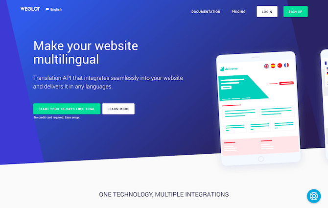 Weglot Review - Homepage