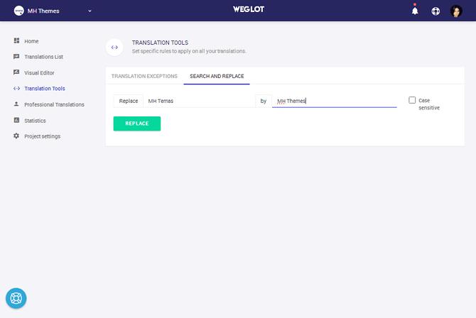 Weglot Search & Replace