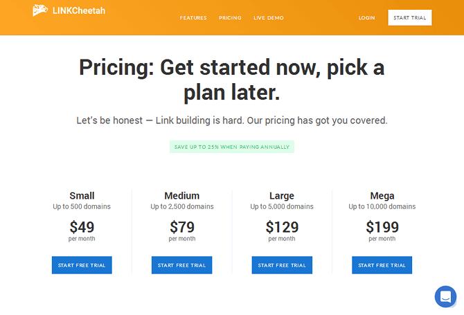 LINKCheetah Pricing