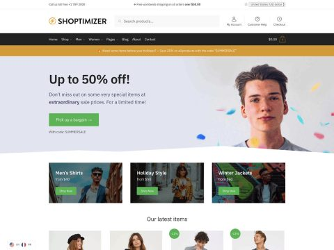 Shoptimizer WordPress Theme