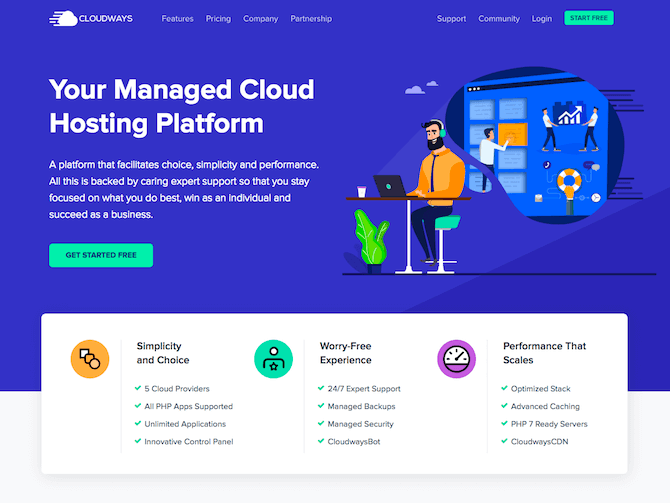 Cloudways Review - Homepage