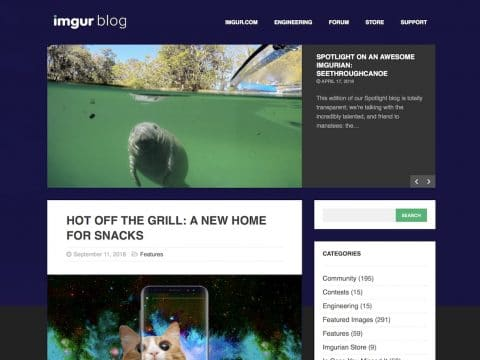 Imgur Blog Screenshot