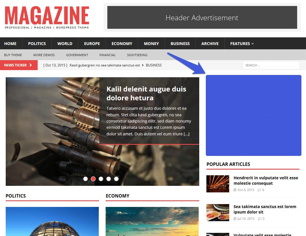 magazin blog advertisement sidebar